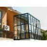 China Garden House Aluminium Large Glass Greenhouse Polycarbonate Double Glazing wholesale