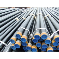 China API 5L x42 x46 x50 schedule 40 black carbon steel ERW pipe/MS straight seam welding steel pipe/round steel pipe/tube wholesale