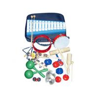 China 17 Pieces Wood Percussion Kids Musical Instrument Orff Instruments Set With Bag wholesale