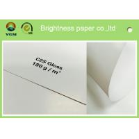 China Large Art Card Paper Glossy Coated , Art Board Paper For High Speed Sheet Fed Press wholesale