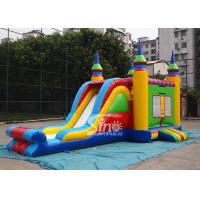 Quality 5in1 colorful commercial kids inflatable combo game with slide for outdoor from guangzhou inflatables for sale