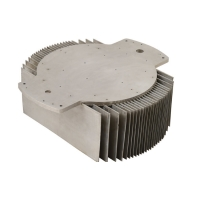 China Pressed Aluminum Fins Heatsink Extrusion Profiles , 6063 T5 Clear Anodized Heat Sink wholesale