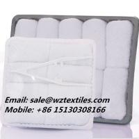 China Pure white cotton airline towels inflight towel wholesale