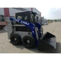 China Full Hydraulic System 6 Wheel Skid Steer / Rubber Track Loader 51 HP Power on sale