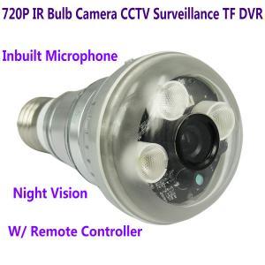 Quality 720P IR Night Vision LED Array Bulb Camcorder CCTV Surveillance DVR Camera for sale