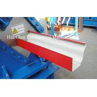 China Most Popular color sheet steel metal Rain Gutter roof roll forming machine wholesale