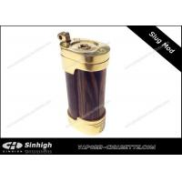 China Slug Mod E-cig Box Mod Wood Brass Mod / Wood Steel Punk Slug Mod In Stock on sale