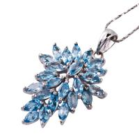 China NEW crystal silver gemstone pendant K-JS-C757, OEM and ODM available wholesale