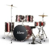 Quality OEM 5 Pcs Lacquer Bass Drum / Floor Tom / Tom Tom Full Size Drum Set A505Q-701 for sale