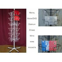 China 24 Landscape Wire Book Display Stands / Greating Card Wire Book Rack Display wholesale