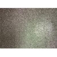Quality Bedroom Wallpaper PU Material Silver Glitter Fabric For Living Room Home Decor for sale