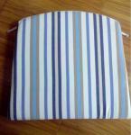 China 100% cotton yarn dyed stripe reversible cushion seat pad wholesale
