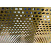 China Bright Perforated Aluminum Alloy Sheet Durable for Flooring Dewatering wholesale
