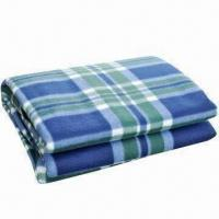 China Picnic/Camping Blanket with Front Fleece Fabric and Waterproof Back PEVA wholesale