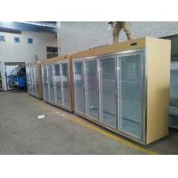 Quality Gold Cool Storage Room Glass Display Fridge For Beverage And Milk for sale