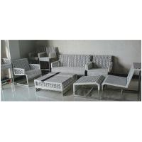 China 9pcs Stainless steel metal base rattan aluminum sofa bar chair collection  --9183 wholesale