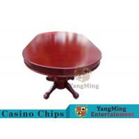 China 110 Inch Deluxe 10 Person Casino Poker Table With Customized Countertop Runway wholesale