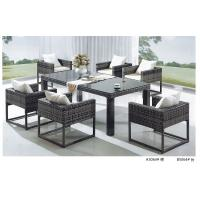 China China rattan dining table and chair wholesale