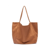 Buy cheap 34cm brown quality canvas single shoulder Reusable Shopping Bags from wholesalers