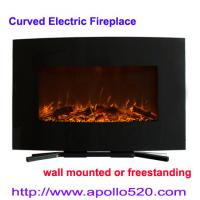 China 36-inch Curved Wall Mounted Electric Fireplace wholesale