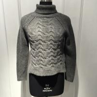 China Anti Shrink Turtleneck Cable Knit Sweater / Grey Turtleneck Sweaters For Fall wholesale