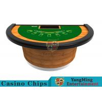 China Half - Moon Shape Structure Poker Card Table With Difficult Deformation Runway wholesale