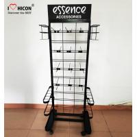Buy cheap Umbrella Flooring Display Stands 1600mm × 400mm Made In Black Metal With Casters from wholesalers