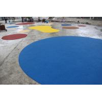 China Environmental Playground Rubber Flooring , Fire Resistance Rubber Playground Material on sale