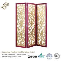 China Aluminum Folding Partition Screens Hinges Solid Wood 3 Panel Room Divider wholesale