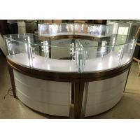 China High End Stainless Steel Gold Jewellery Showroom Display Showcase With Led Light wholesale
