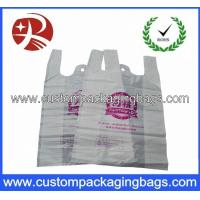 China Color printed Plastic Biodegradable bags with Side gusset vest handle shopping bag wholesale