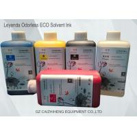 China Leyenda Odorless Eco Solvent Ink CMYK Vibrant Color Strong Compatibility wholesale