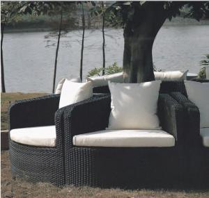 China Gaden wicker round sofa around tree or pillar  --9215 wholesale
