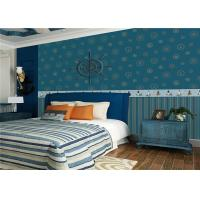 Quality Lovely Deep Blue Kids Bedroom Wallpaper Water Resistant OEM ODM Service for sale