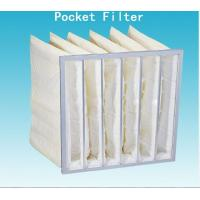 Quality F8 Nonwoven Fabric Pocket Air Filter Industrial Dust Collector Bags 95% for sale