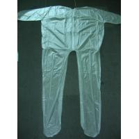 Quality 4Mil 5Mil 6Mil Thickness Clear or White Mortuary Garments Vinyl Unionalls Heat Sealed for sale