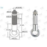 China Brass Material Aircraft Cable Hangers / Wire Cable Hanging System With Safety Nut wholesale