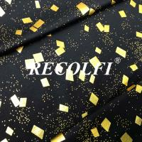 China Seamless Free Cut Activewear Knit Fabric Laser Foil Embossing Printed Colors wholesale