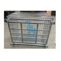 China Portable Wire Mesh Storage Cages Steel Storage Bins For Domestic Transporting wholesale
