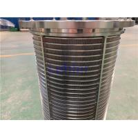 China Fine Chemical Filtration Wedge Wire Filter Elements Automatic Self Cleaning wholesale
