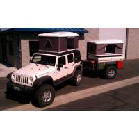 China CE Approved Hard Shell Roof Top Tent , Jeep Wrangler Tents For Camping wholesale