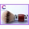 China Bruma rosewood silver tipped badger hair shaving brush With Custom Logo wholesale