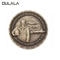 Buy cheap 3D design antique bronze plating Die struck copper coin without coloring from wholesalers