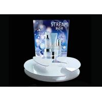 Quality Advertising Sticker Printing White Acrylic Makeup Display Stand 4mm 5mm for sale