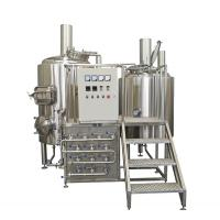 China 500L Semi Automatic Small Brewery Equipment Two Vessels With Steam Condenser wholesale