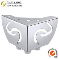 China 55mm high hollow out furniture legs metal corner sofa legs with linetype pattern SL-096 wholesale