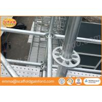 China Q235 hot dipped galvanized ring lock scaffolding system vertical level diagonal brace spigot base for project on sale