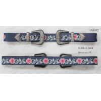 Metal Loop Embroidery Womens Fashion Belts With Heavy Metal Accessories