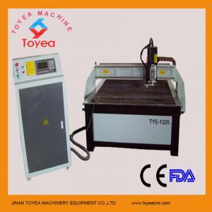China Hypertherm plasma cutting machine with 1300 x 2500mm,servo motor ,HIWIN square linear rail TYE-1325 on sale