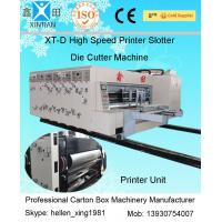 China Auto Fold Carton Sealing Machine With Ceramic Anilox Roller And Stacker on sale